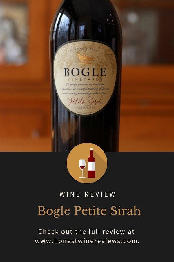 Bogle Petite Sirah Review Pinterest Pin
